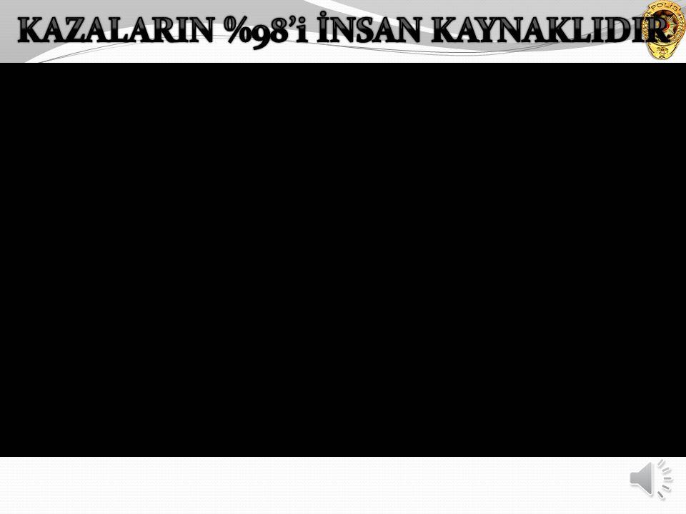 KAZALARIN %98'i İNSAN KAYNAKLIDIR