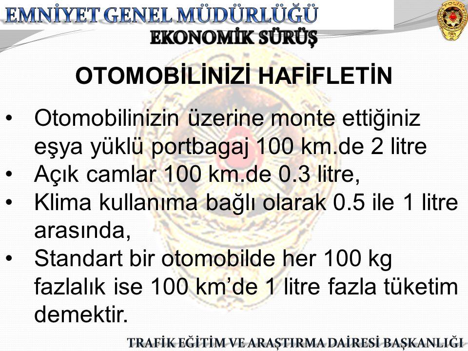 OTOMOBİLİNİZİ HAFİFLETİN