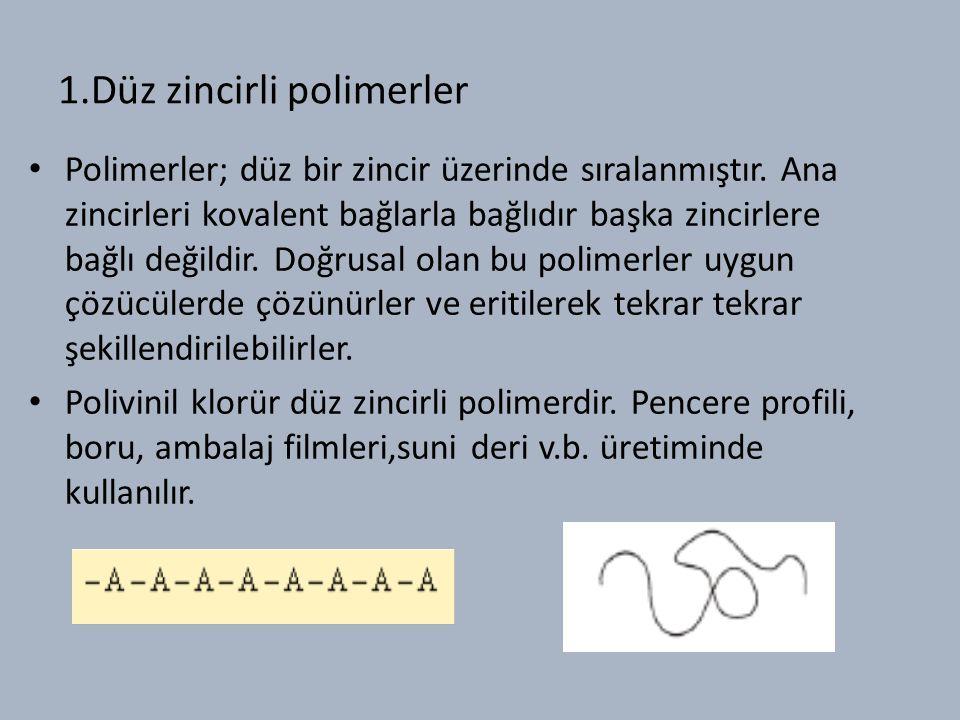 1.Düz zincirli polimerler
