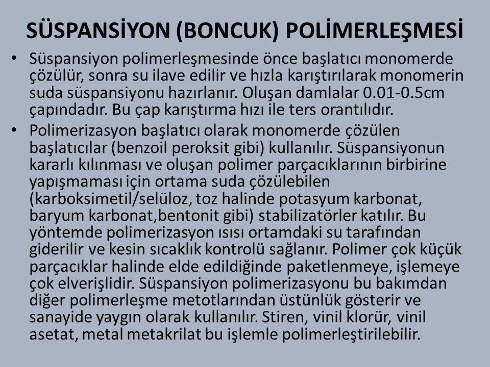 SÜSPANSİYON (BONCUK) POLİMERLEŞMESİ