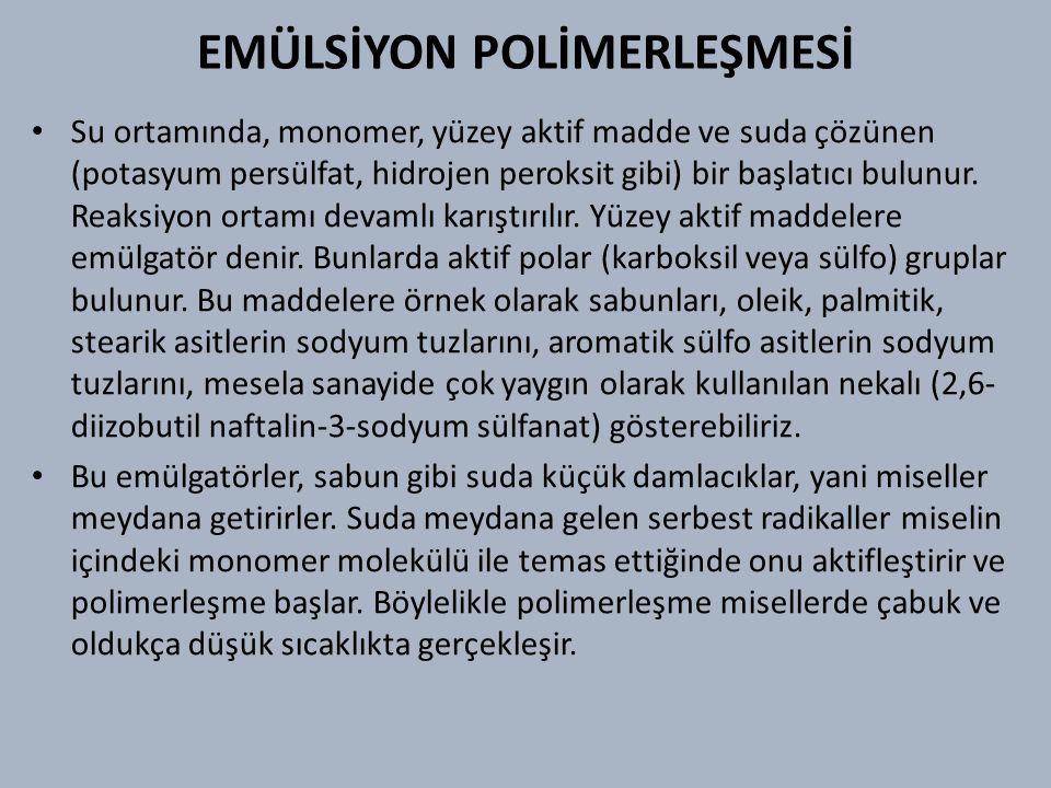 EMÜLSİYON POLİMERLEŞMESİ
