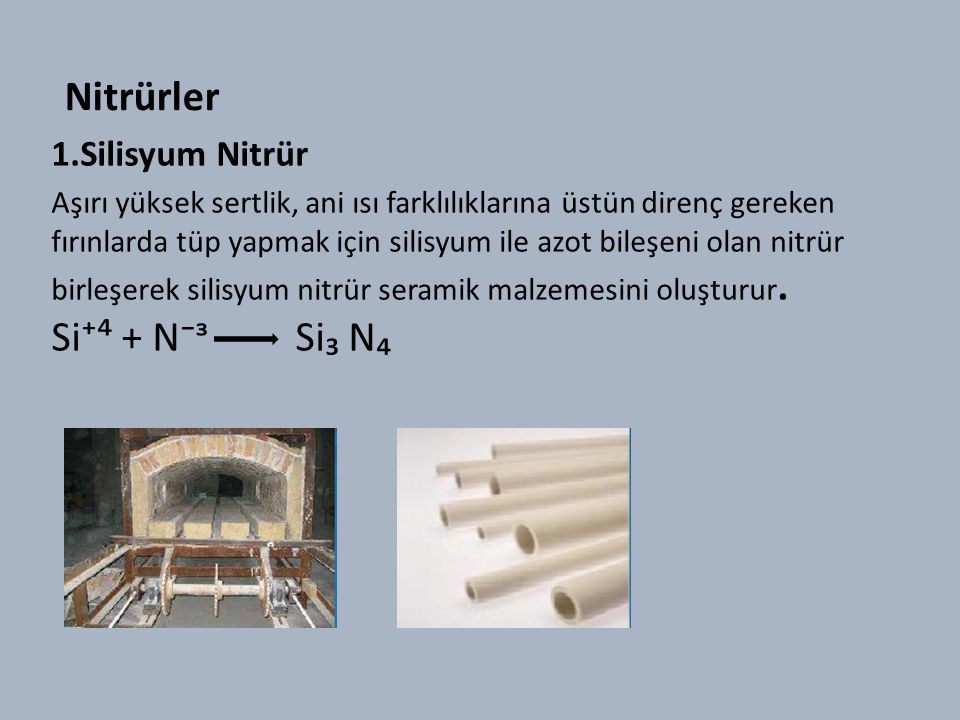 Nitrürler 1.Silisyum Nitrür