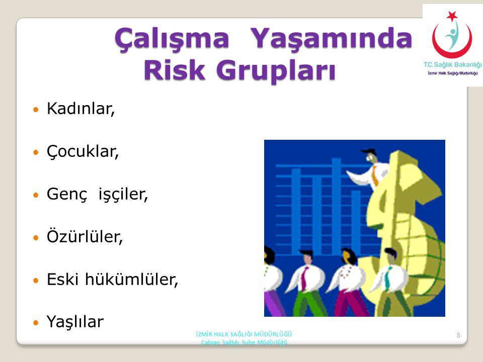 Çalışma Yaşamında Risk Grupları