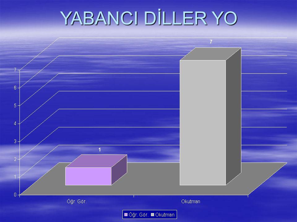 YABANCI DİLLER YO