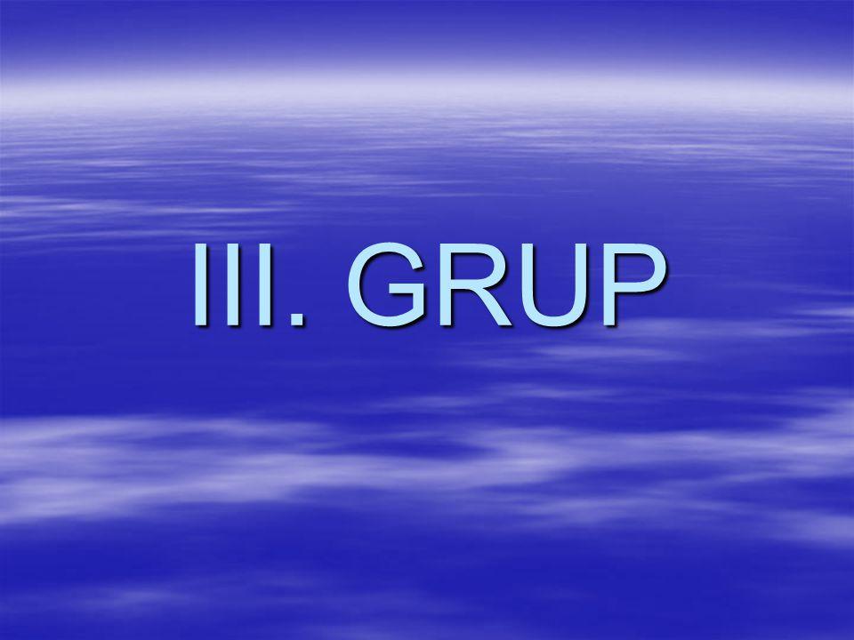 III. GRUP