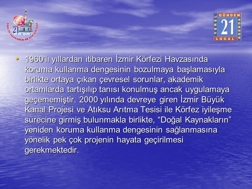 1960'lı yıllardan itibaren İzmir Körfezi Havzasında koruma kullanma dengesinin bozulmaya başlamasıyla birlikte ortaya çıkan çevresel sorunlar, akademik ortamlarda tartışılıp tanısı konulmuş ancak uygulamaya geçememiştir.