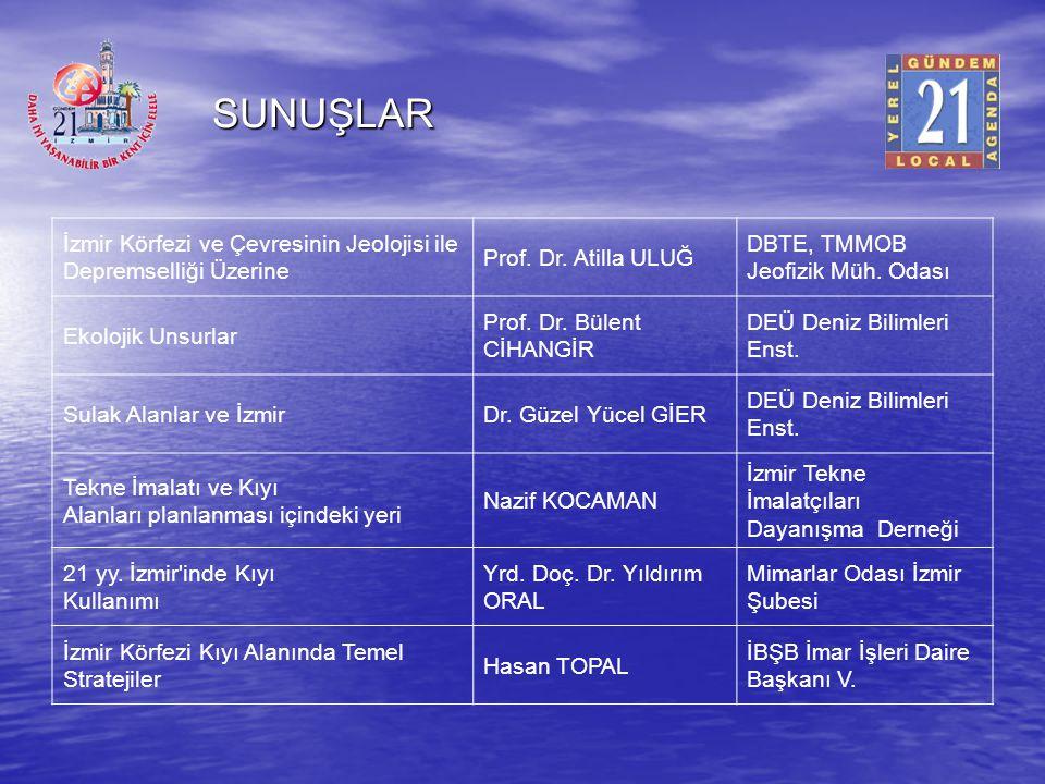 SUNUŞLAR İzmir Körfezi ve Çevresinin Jeolojisi ile Depremselliği Üzerine. Prof. Dr. Atilla ULUĞ. DBTE, TMMOB Jeofizik Müh. Odası.