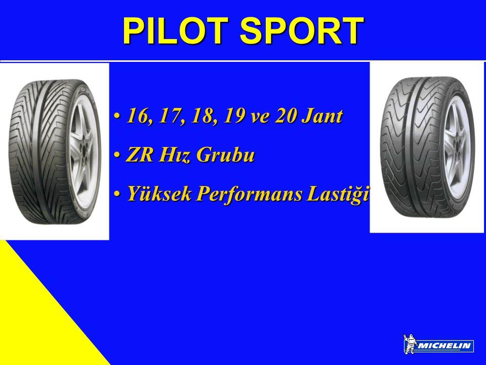 PILOT SPORT 16, 17, 18, 19 ve 20 Jant ZR Hız Grubu