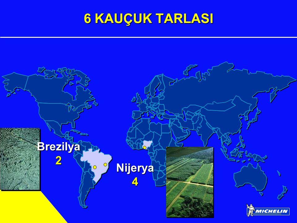 6 KAUÇUK TARLASI Brezilya 2 Nijerya 4