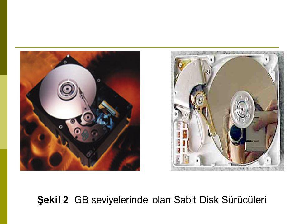 Şekil 2 GB seviyelerinde olan Sabit Disk Sürücüleri