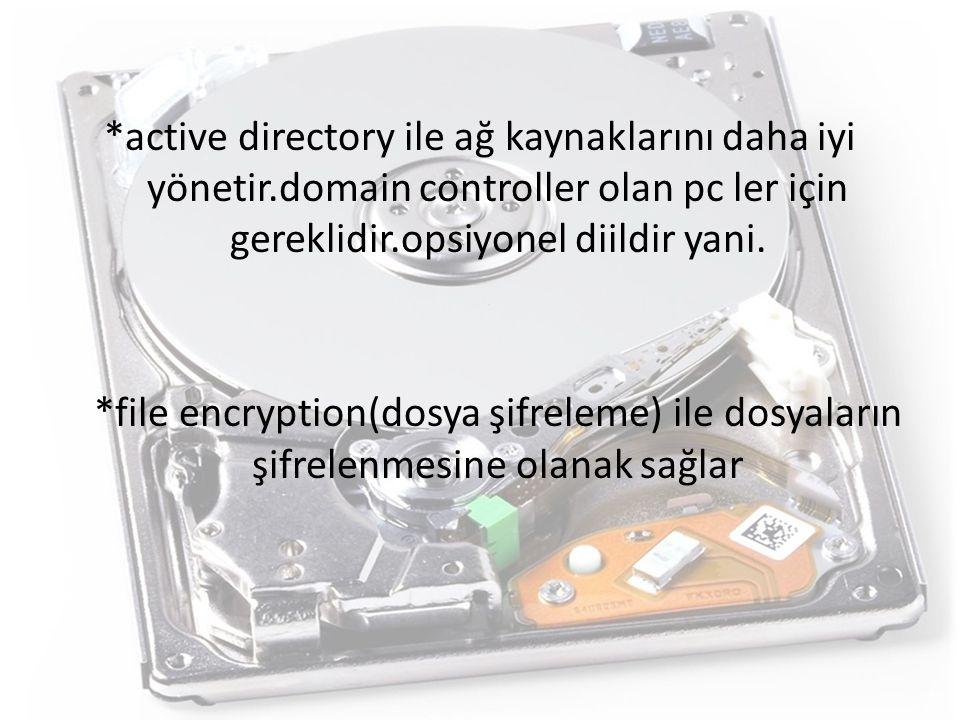 active directory ile ağ kaynaklarını daha iyi yönetir