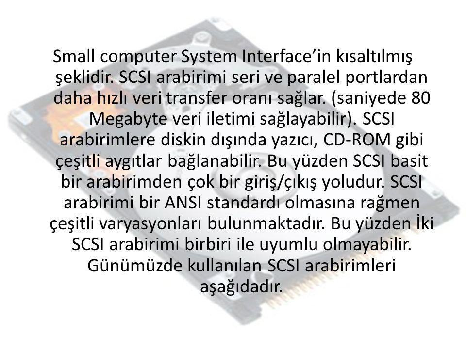 Small computer System Interface'in kısaltılmış şeklidir