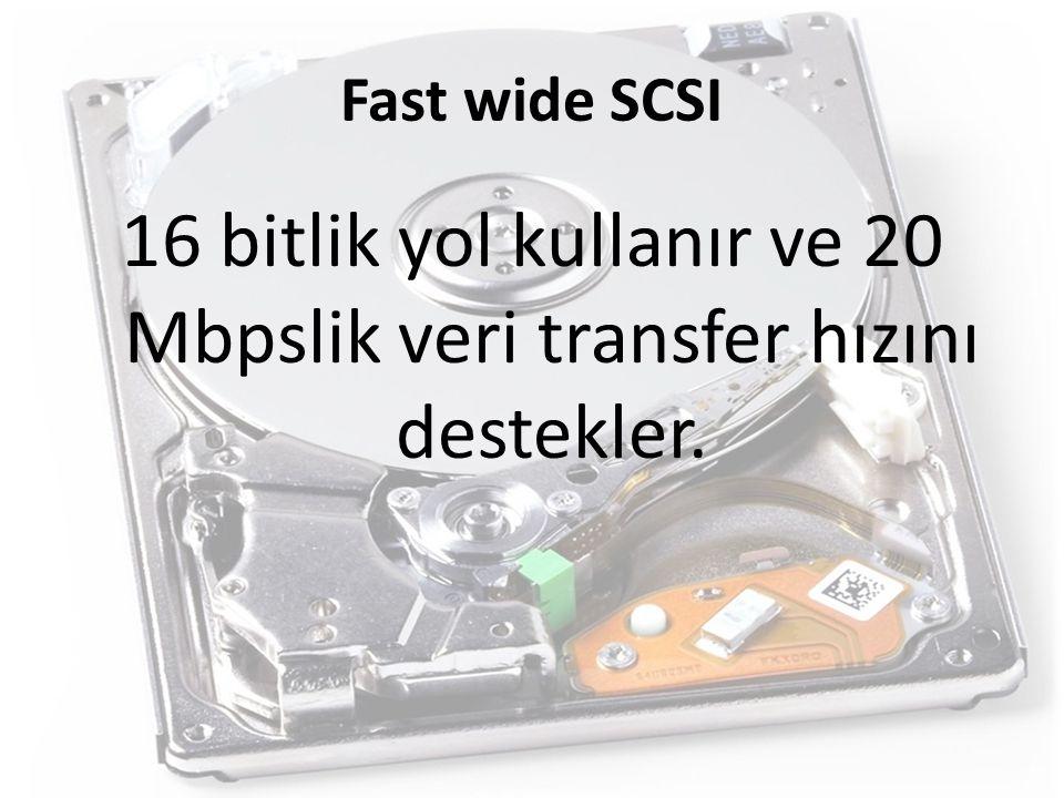 16 bitlik yol kullanır ve 20 Mbpslik veri transfer hızını destekler.