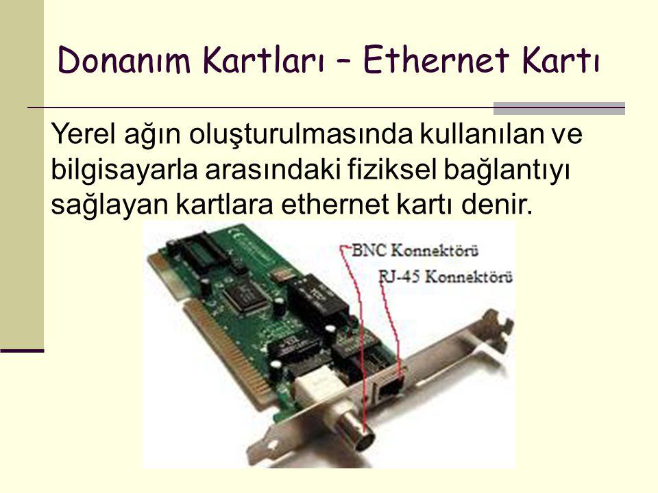 Donanım Kartları – Ethernet Kartı