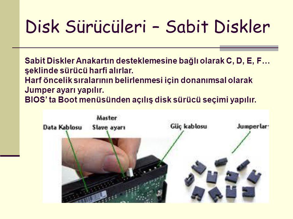 Disk Sürücüleri – Sabit Diskler