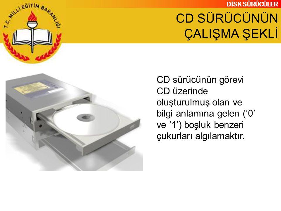 CD SÜRÜCÜNÜN ÇALIŞMA ŞEKLİ