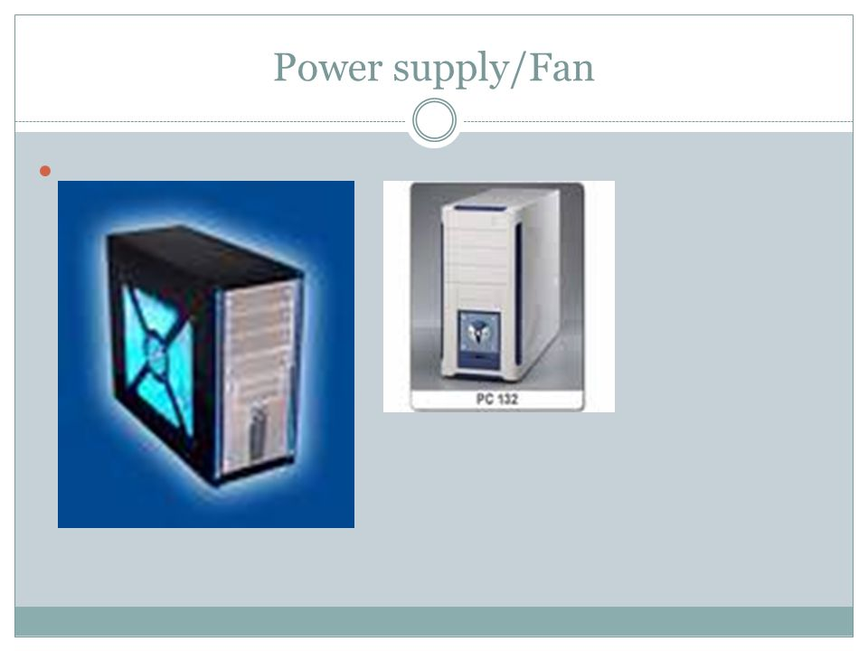 Power supply/Fan