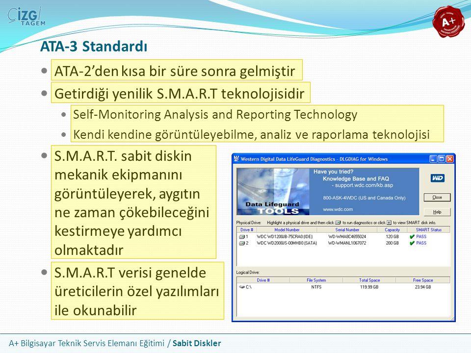 ATA-3 Standardı ATA-2'den kısa bir süre sonra gelmiştir