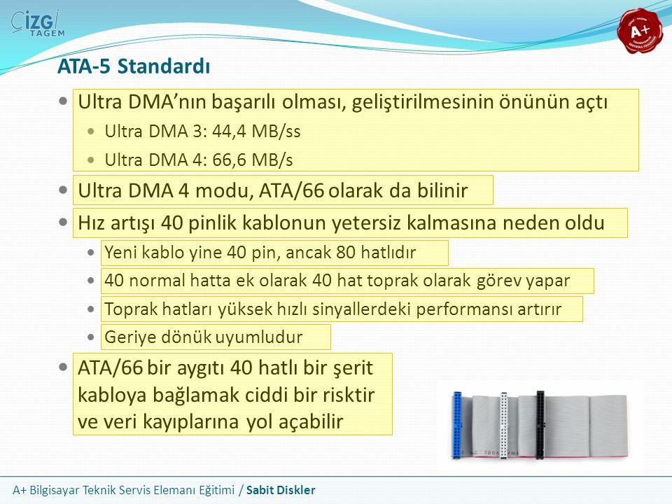ATA-5 Standardı Ultra DMA'nın başarılı olması, geliştirilmesinin önünün açtı. Ultra DMA 3: 44,4 MB/ss.