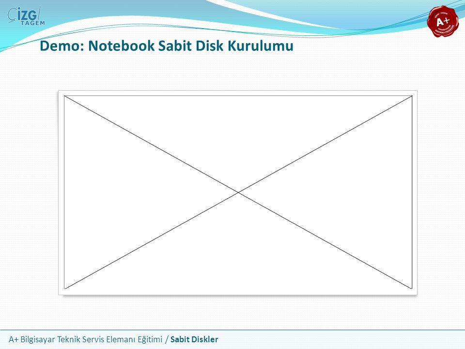 Demo: Notebook Sabit Disk Kurulumu