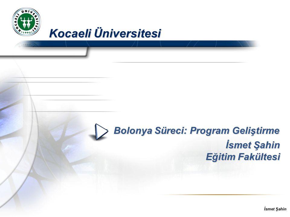Bolonya Süreci: Program Geliştirme