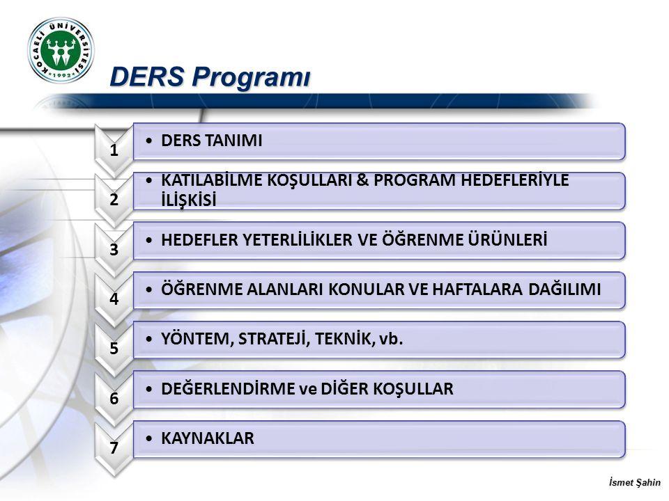 DERS Programı 1 DERS TANIMI 2