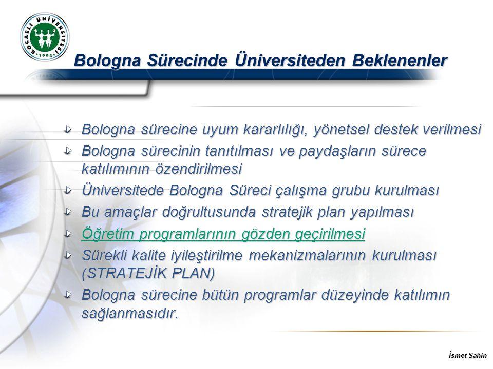 Bologna Sürecinde Üniversiteden Beklenenler