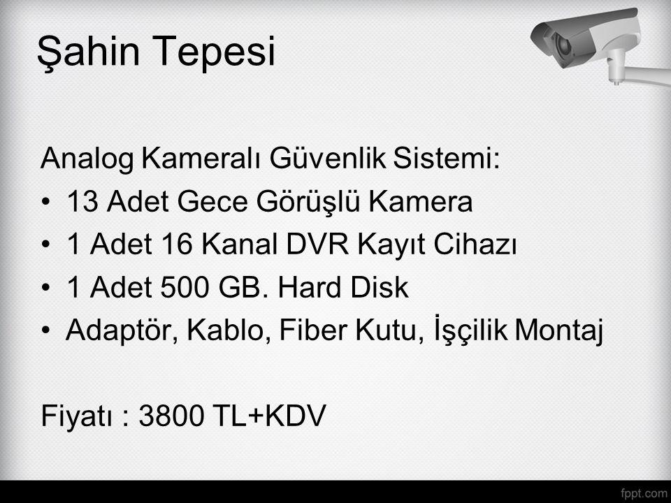 Şahin Tepesi Analog Kameralı Güvenlik Sistemi: