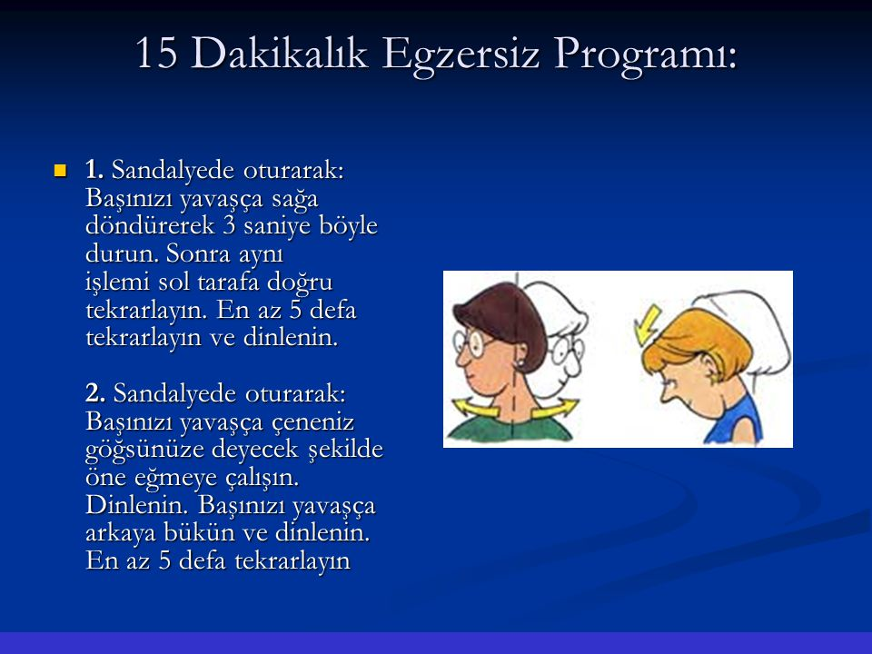 15 Dakikalık Egzersiz Programı: