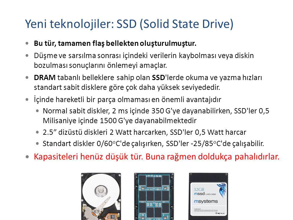 Yeni teknolojiler: SSD (Solid State Drive)