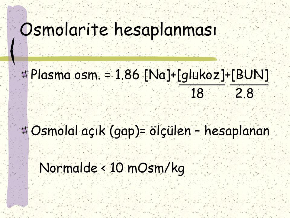 Osmolarite hesaplanması