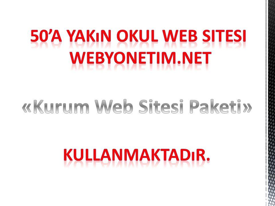 50'a yakın OKUL web sitesi «Kurum Web Sitesi Paketi»