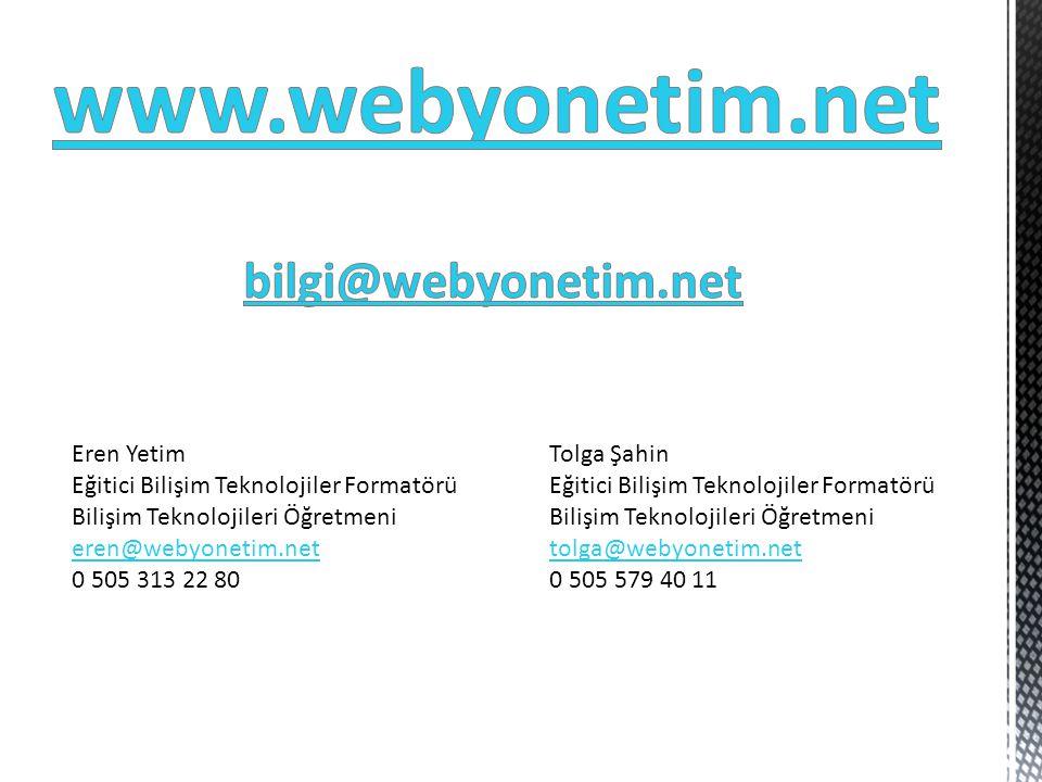 www.webyonetim.net bilgi@webyonetim.net