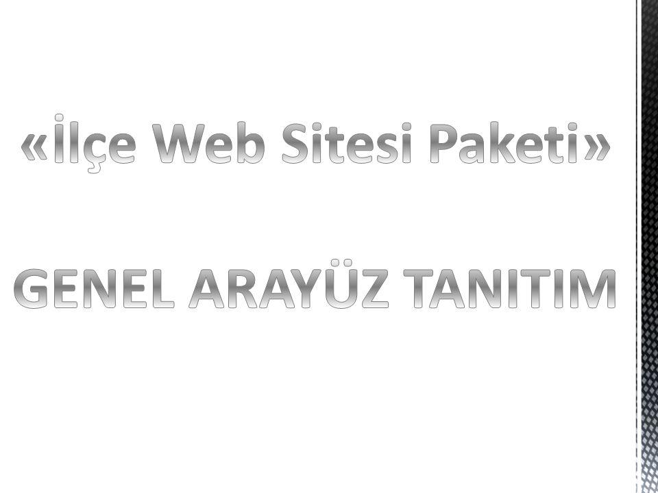 «İlçe Web Sitesi Paketi»