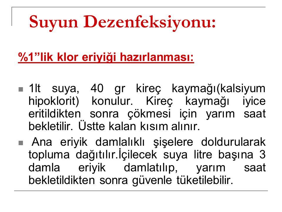 Suyun Dezenfeksiyonu: