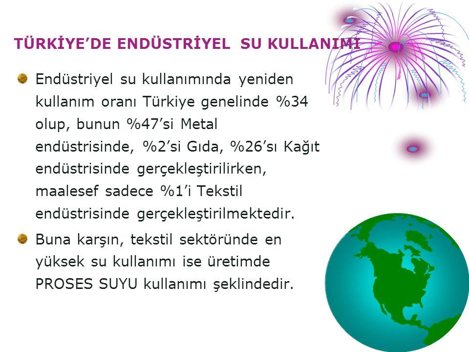 TÜRKİYE'DE ENDÜSTRİYEL SU KULLANIMI