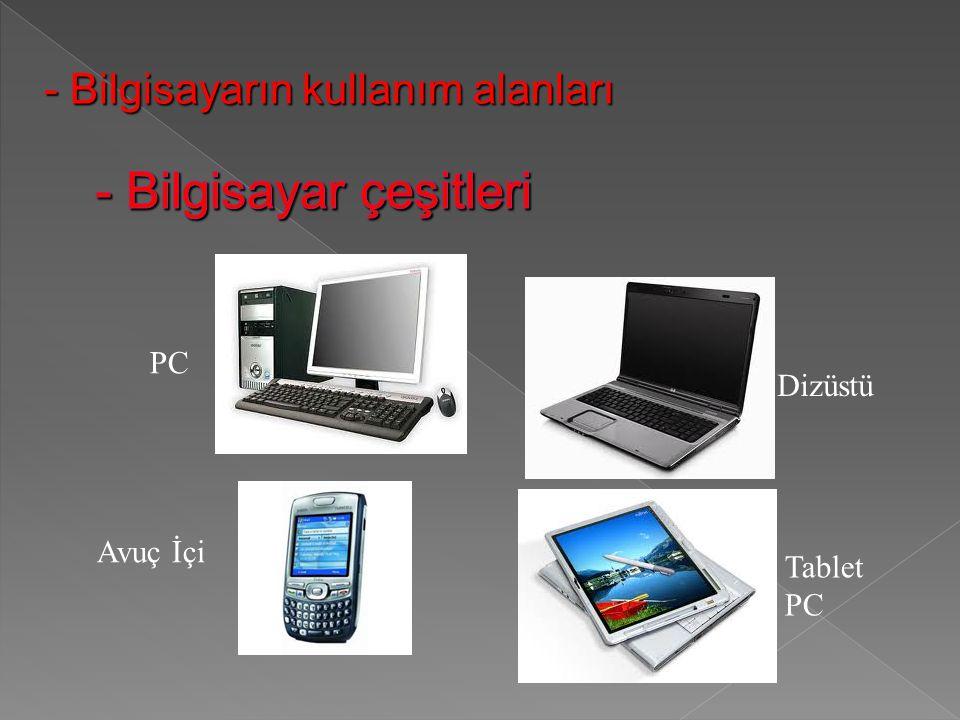 - Bilgisayar çeşitleri