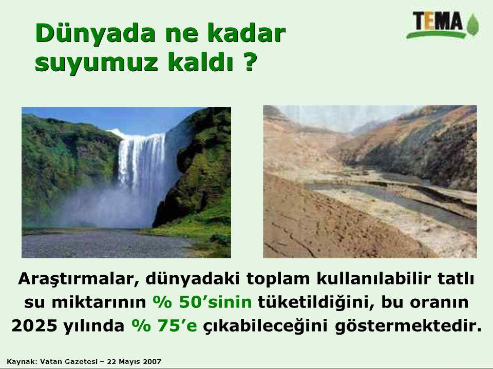 Dünyada ne kadar suyumuz kaldı
