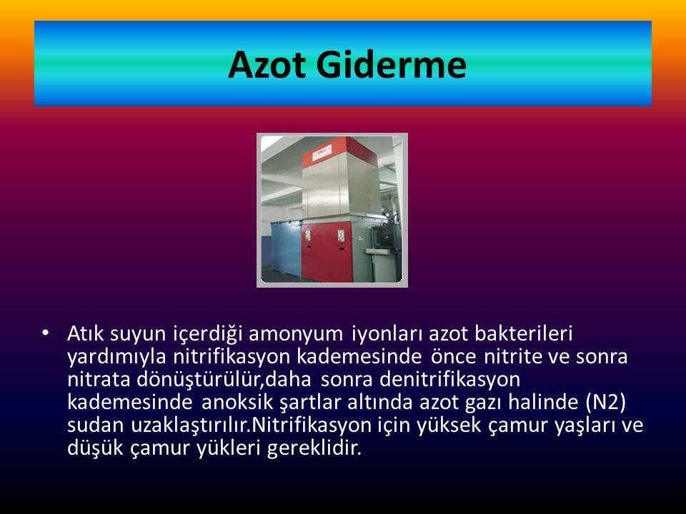 Azot Giderme