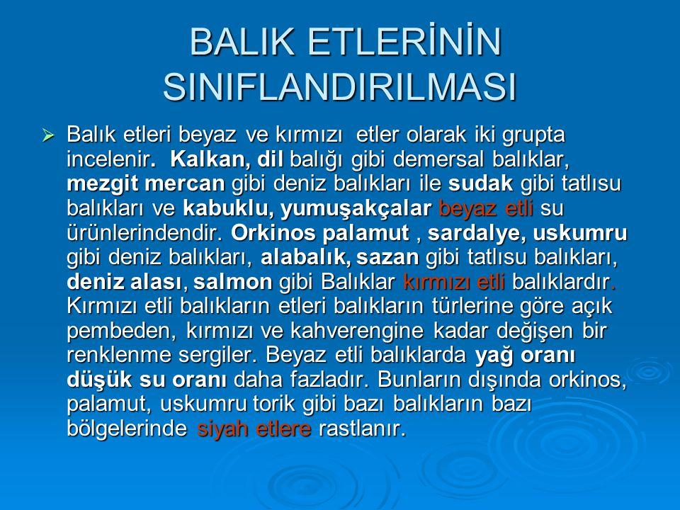 BALIK ETLERİNİN SINIFLANDIRILMASI