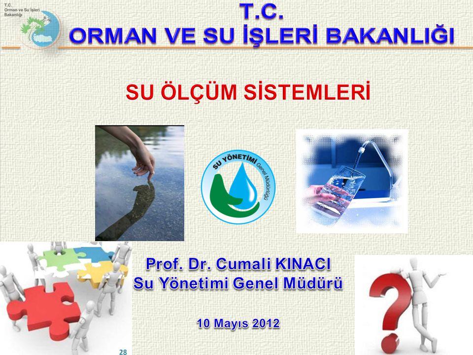 ORMAN VE SU İŞLERİ BAKANLIĞI Su Yönetimi Genel Müdürü