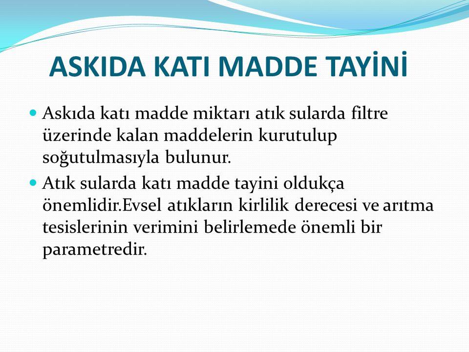 ASKIDA KATI MADDE TAYİNİ