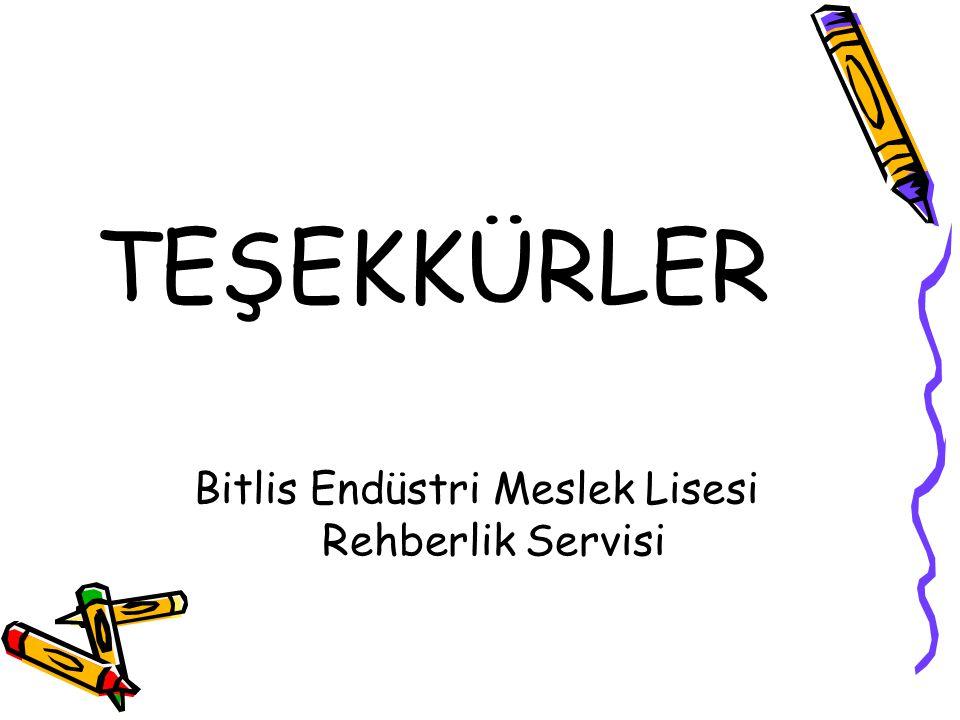 Bitlis Endüstri Meslek Lisesi Rehberlik Servisi