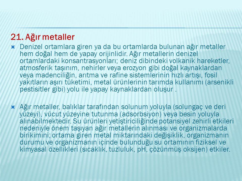 21. Ağır metaller
