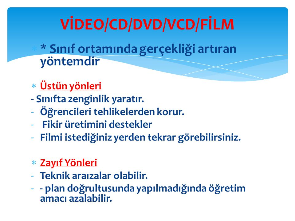 VİDEO/CD/DVD/VCD/FİLM