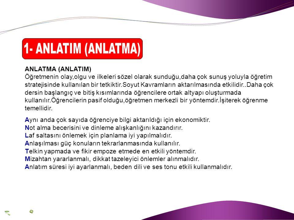 1- ANLATIM (ANLATMA) ANLATMA (ANLATIM)