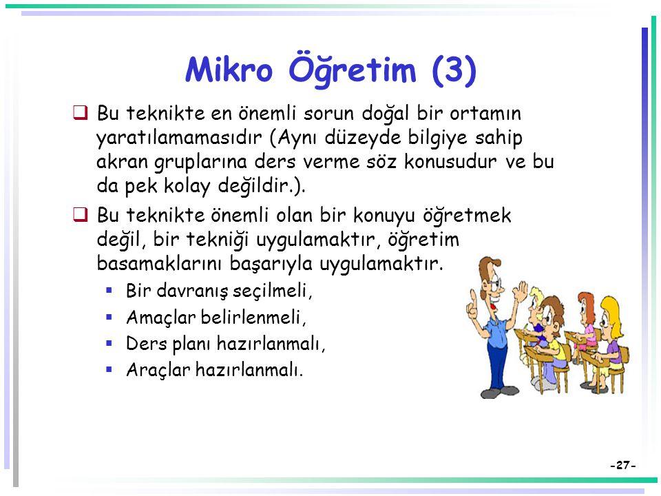 Mikro Öğretim (3)