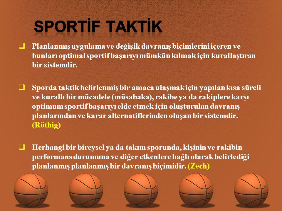 SPORTİF TAKTİK