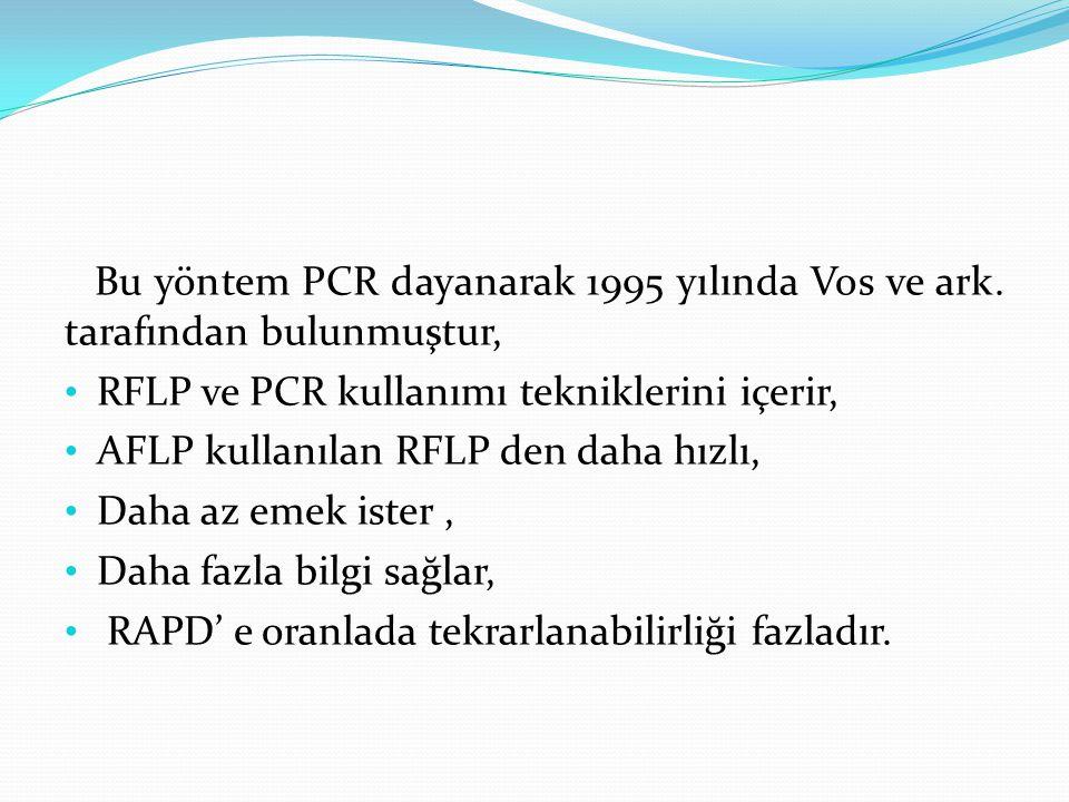 Bu yöntem PCR dayanarak 1995 yılında Vos ve ark