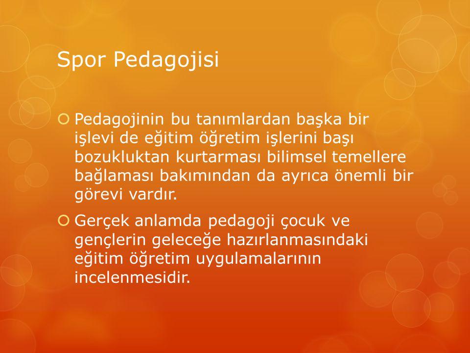 Spor Pedagojisi